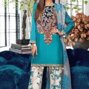 Designer Lawn Emboidery Suit + Chiffon Printed Duppata