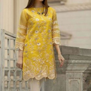 Full Embroidered Chiffon Kurti With Inner (Unstitched)